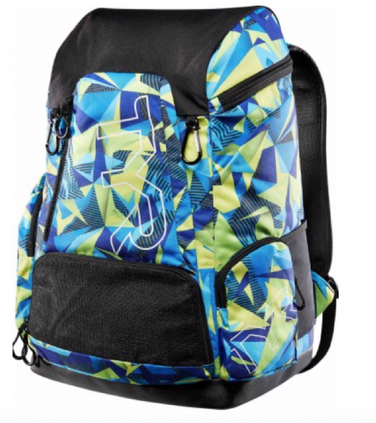 TYR Team Alliance Backpack 45L - GEO BLUE YELLOW